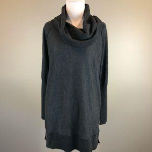 Tahari extra fine Merino Wool Charcoal Sweater